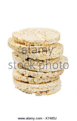 Stack of rice cakes - Stock Photo