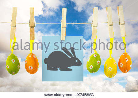 Composite image of easter bunny - Stock Photo