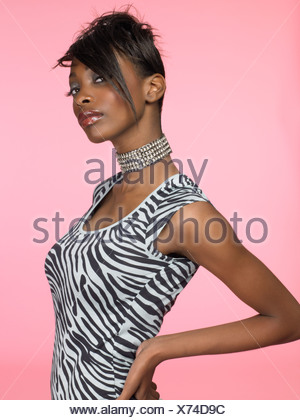 Portrait of a stylish young woman - Stock Photo