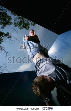 Boy being bullied - Stock Photo