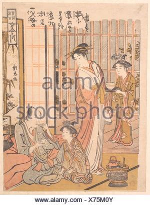 Forgetting Filial Piety. Artist: Torii Kiyonaga (Japanese, 1752-1815); Period: Edo period (1615-1868); Date: ca. 1781; Culture: Japan; Medium: - Stock Photo