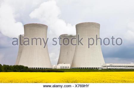 Nuclear power plant, Temelin, Bohemia, Czech Republic, Europe - Stock Photo