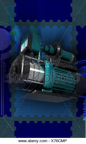blue, graphics, colour, industry, machinery, energy, power Stock ...