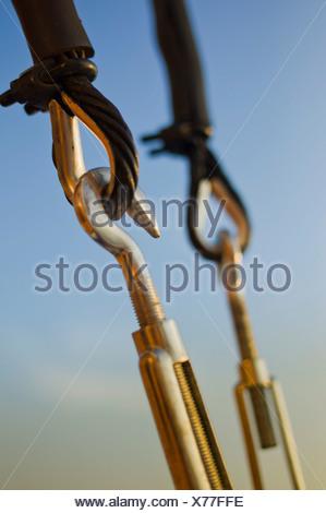 Rigging, sailing ship PHILIPPINE SIREN, Philippines, Pacific Ocean, Southeast Asia - Stock Photo