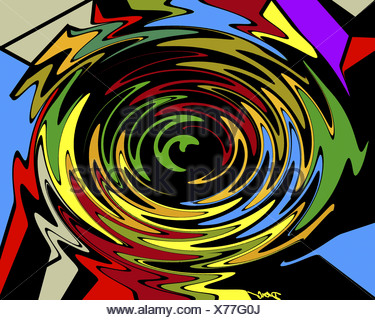Whirlpool  2002  Diana Ong (b.1940/Chinese-American)  Computer graphics - Stock Photo