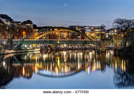 lessing bridge berlin - Stock Photo