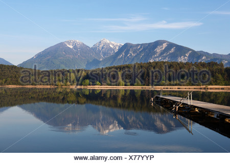 Turnersee lake, Karawanken mountains, Carinthia, Austria, Europe - Stock Photo