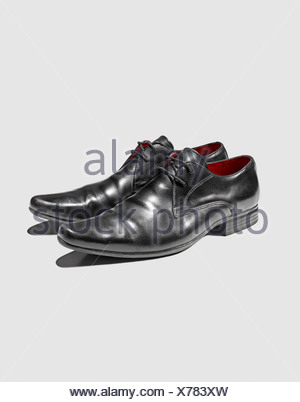 Close up of mans dress shoes - Stock Photo