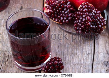 Fresh pomegranate juice - Stock Photo