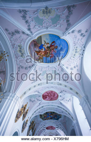 Austria, Tyrol, Stams, Stams Abbey, interior - Stock Photo