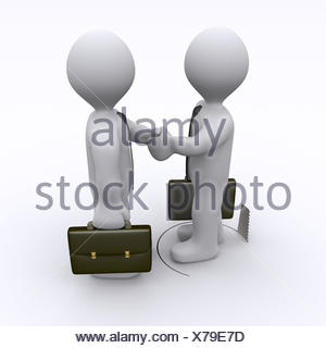 Handshake is being sabotaged - Stock Photo