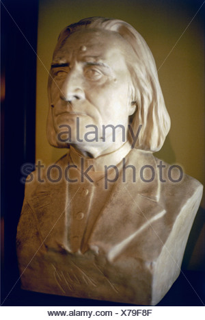 Liszt, Franz, 22.10.1811 - 31.7.1886, Hungarian composer and pianist, portrait, bust, Bayreuth, , - Stock Photo