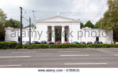 Altes Portal entrance of Hauptfriedhof cemetery, Frankfurt am Main, Hesse, Germany, Europe, PublicGround - Stock Photo
