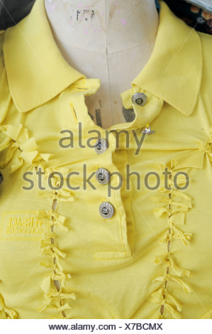 Buttons on blouse - Stock Photo