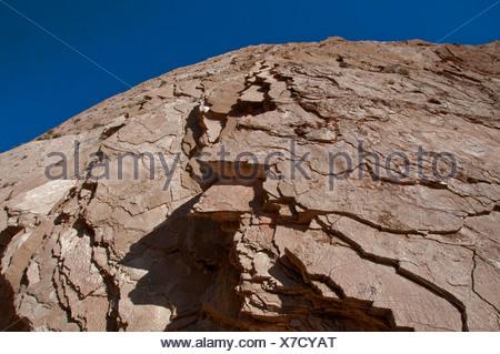 Lovell narrows, Lake Mead National Recreation Area, Nevada, stone, rocks, slates, blue sky, USA, North America, America - Stock Photo