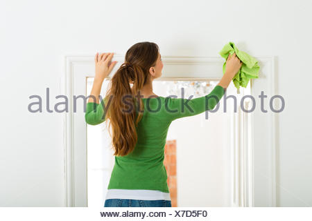 woman at spring cleaning - Stock Photo