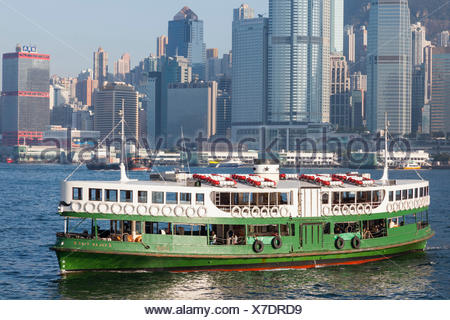 China, Hong Kong, Star Ferry - Stock Photo