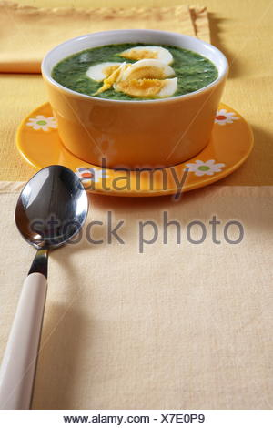 Spinach soup - Stock Photo