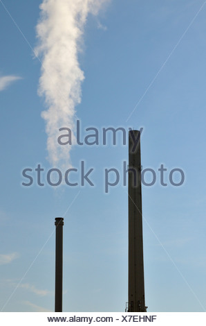 Brown coal, power station, CO2, Germany, energy provider, energy industry, global warming, Europe, heat and power station, clima - Stock Photo