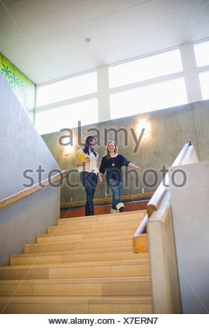 Students in stairs - Stock Photo