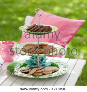 Cookies on plates - Stock Photo