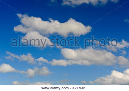 cloudy sky, Germany, Lower Saxony - Stock Photo