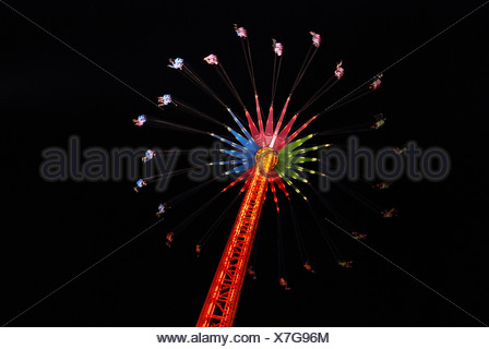 Whirligig at the 2007 Oktoberfest in Munich, Bavaria, Germany - Stock Photo