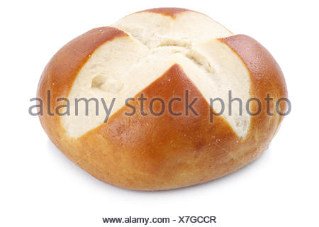 roll pretzel rolls for breakfast cutout cutouts cut isolated - Stock Photo