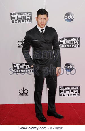 Recording artist Joe Jonas arrives at the 2014 American Music Awards at Nokia Theatre L.A. Live on November 23, 2014 in Los Angeles, California., Additional-Rights-Clearances-NA - Stock Photo