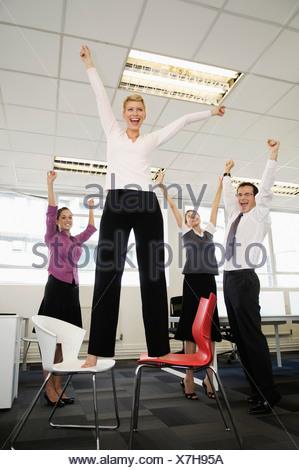 Business team celebrating - Stock Photo
