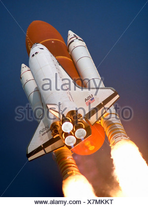 Space Shuttle Atlantis Launching on STS-45 - Stock Photo