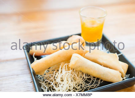 Deep fried spring rol - Stock Photo