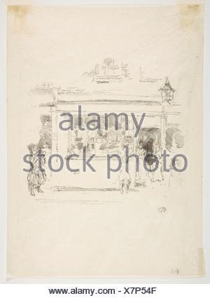 Drury Lane Rags. Artist: James McNeill Whistler (American, Lowell, Massachusetts 1834-1903 London); Date: 1888; Medium: Transfer lithograph, drawn on - Stock Photo