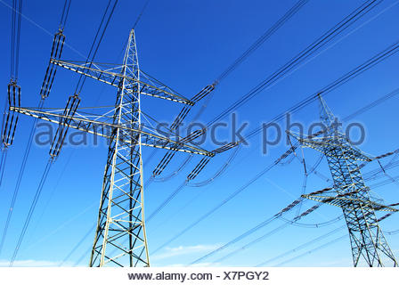two pylons - Stock Photo
