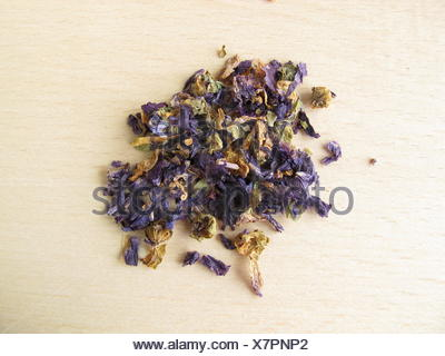 mallow, tea, blossoms, material, drug, anaesthetic, addictive drug, drugs, - Stock Photo
