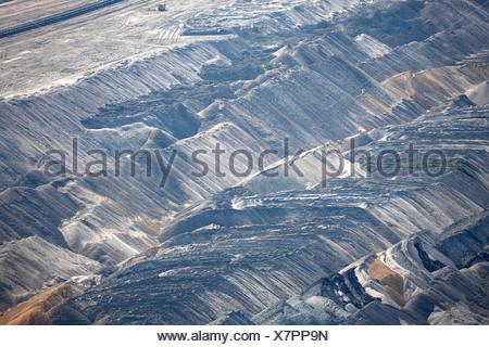 Hambach Tagebau, brown coal, Rhein-Erft-Kreis, North Rhine-Westphalia, Germany - Stock Photo