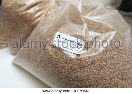 Flensburg, Germany, dark wheat malt - Stock Photo