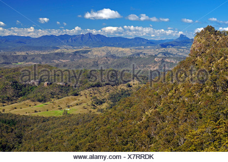 View over the mountains in the Lamington National Park, Australia - Stock Photo