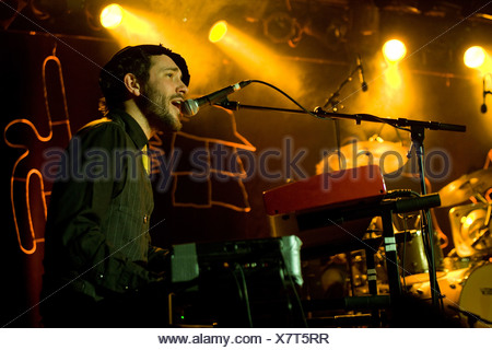 Charlie Winston, British singer and songwriter, performing live with band at the Schueuer concert hall, Lucerne, Switzerland - Stock Photo