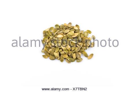 Heap of raw pumpkin seeds - Stock Photo