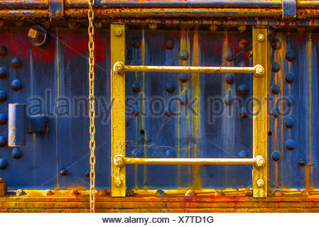Old Railroad Wagon Detail, - Stock Photo