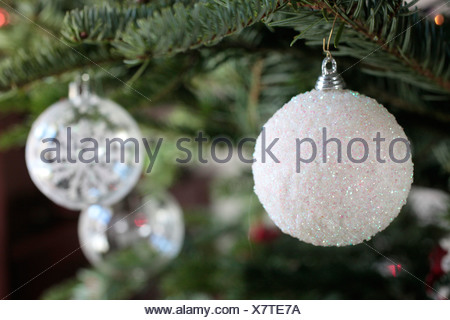 Christmas tree decorated. - Stock Photo