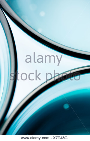 Abstract pattern made of drinking glasses - Stock Photo