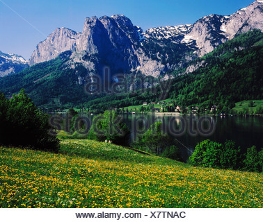 geography / travel, Austria, Styria, landscape / landscapes, Totes Gebirge, landscape at Grundlsee, Salzkammergut, Additional-Rights-Clearance-Info-Not-Available - Stock Photo