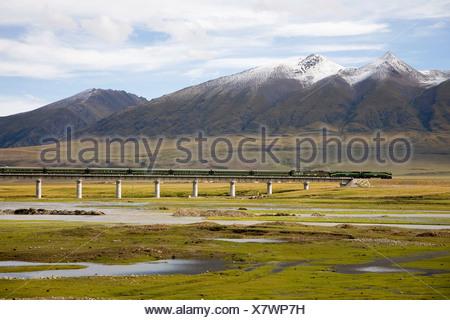 Qinghai-Tibet Railway - Stock Photo