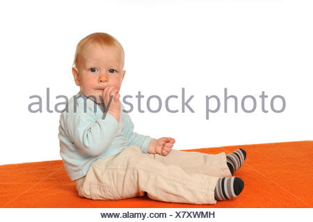 optional, baby, eating, eat, eats, isolated, optional, scrabble, crawling, - Stock Photo