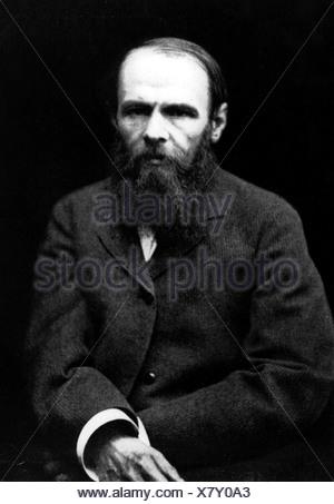 Dostoevsky, Fyodor Mikhailovich, 11.11.1821 - 9.2.1881, Russian writer, novelist, half length, Additional-Rights-Clearances-NA - Stock Photo