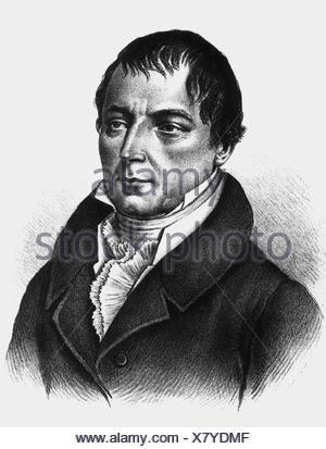 Buch, Christian Leopold von, 26. 4.1774 - 4.3.1853, German scientist (geologist), portrait, contemporary engraving, ,