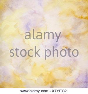 aquarell abstrakt papier hellgelb- und hellvioletttöne - Stock Photo