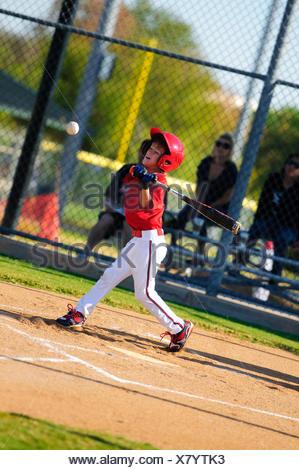 Boy baseball batter - Stock Photo